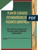 Plan Cuidados Estadarizados Paciente Geriatrico