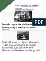 Historia Del Ballet