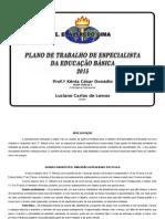 Plano de Ação - Lima - Especialista - 2013