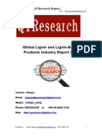 Global Lignin and Lignin-Based Products Industry Report 2015