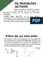 FILTROS PASOALTAS ACTIVOS