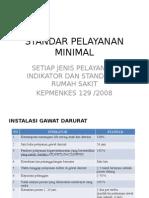 Standar Pelayanan Minimal RS
