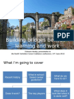 Building bridges between learning and work