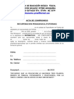 Acta de Compromiso Recuperación Pedagógica 2015