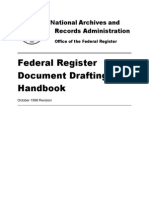 Federal Registry Document Drafting Handbook