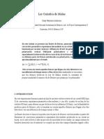 Principio de Descomposicion Espectral en Polarizacion (Ley Cuantica de Malus