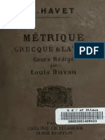 Havet, Louis - Métrique Grecque & Latine