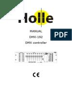 Manual Mesa Dmx 192