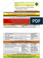 framework plan of the 12th international academic conference - zakopane 19 10 2014