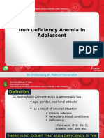 Iron Deficiency Anemia in Adolescent