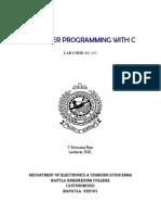 C Prog. Lab Manual
