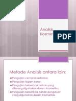 2. Aplikasi Analisis Kosmetik