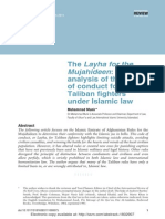 An Analysis of the Code of Conduct for the Taliban Fighters Under Islamic Law