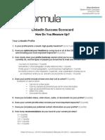 LinkedIn Success Scorecard How Do You Measure Up