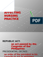 Laws Affecting Nursing Practice