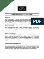 Johor Premium Outlets - Fact Sheet (31 Oct 2014)