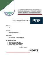 Los Cheques Especiales Derecho Comercial II