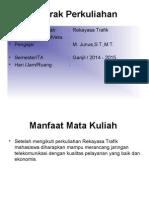 _1. Kontrak Perkuliahan Rekayasa Trafik 2015