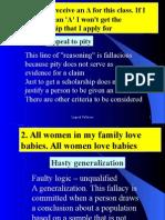 3. Logical Fallacies