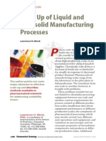 Scale Up of Liquid and Semisolid Manufacturing Processes