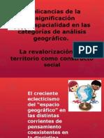 Implicancias de la resignificaciónde la espacialidad en las categorías de análisis geográfico.