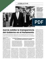 150624 La Verdad CG- García Exhibe en El Parlamento La Transparencia Del Gobierno p.8