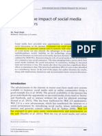 A Study of the Impact of Social Media on Consumers