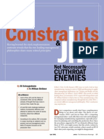 Constraints and JIT - Not Necessarily Cutthroat Enemies (Eli Shragenheim and Bill Dettmer) April 2001, APICS - The Performance Advantage
