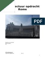 architectuur opdracht rome