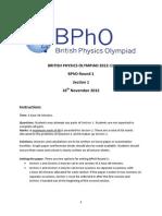 BPhO Round 1 2013 Prt 1