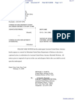 Associated Press v. United States Department of Defense - Document No. 47