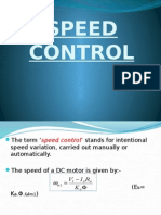 Speed Control of DC motors