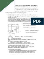 Analisis Elementer Senyawa Organik