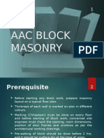 Aac Block Masonry
