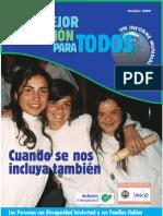 Mejor Educacion para Todos. Informe Mundial Inclusión Internacional