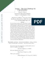 Fermi's Paradox - The Last Challenge for Copernicanism?