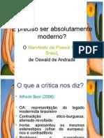 Aula - Manifesto Pau-Brasil (Oswald de Andrade)