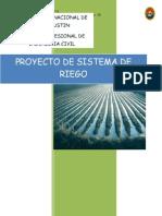 Proyecto de sistema de riego - Trabajo Universitario