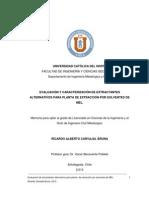 Evaluación y Caracterización de Extractantes Alternativos Para Planta de Extracción Por Solventes de Mel.