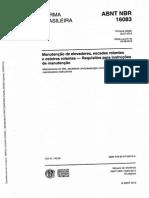 NBR 16083 - Elevadores