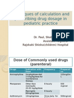 pediatric drug dose