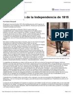La Declaración de La Independencia de 1815