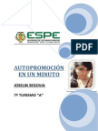 Autopromoción -Joselin Segovia