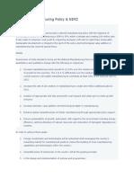 National Manufacxturing Policy