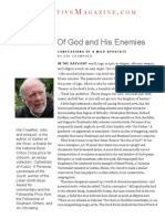 Of God and His Enemies by Hal Crowther - Narrative Magazine