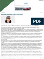 Alarma en Bogotá Por Estrés y Depresión