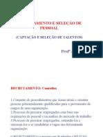 RECRUTAMENTO E SELEÇAO DE PESSOAL