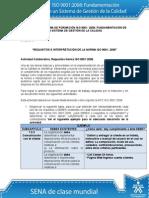 Actividad de Aprendizaje Unidad 3 Requisitos e Interpretacion de La Norma ISO 9001-2008