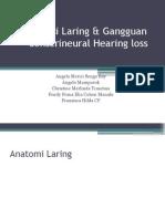 Fungsi Laring & Gangguan Sensorineural Hearing Loss
