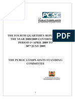 Quarterly Q4 Report 2008-2009